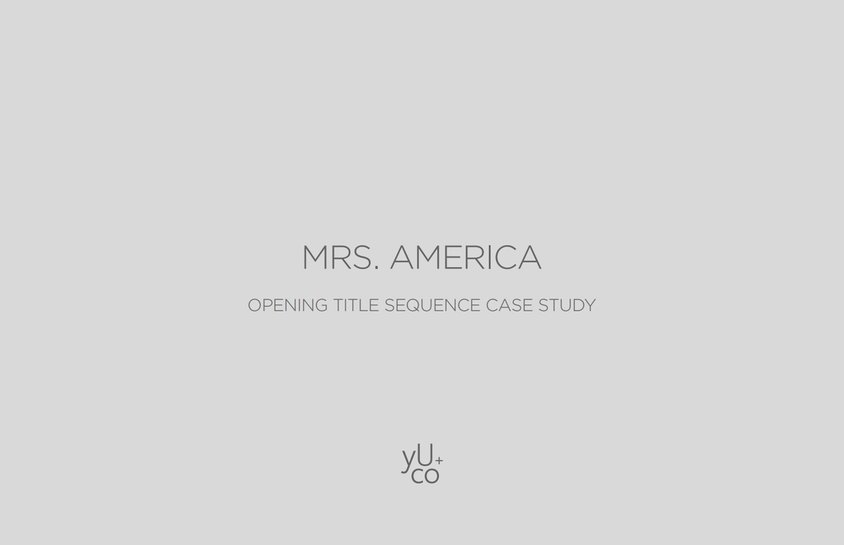 Mrs. America: </br>Case Study